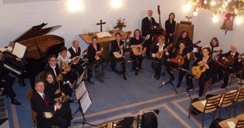 Orchester, vor dem Konzert